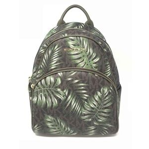 8e945c20c78f ... official store michael kors abbey medium backpack olive palm tree 6d0a9  8216e ...